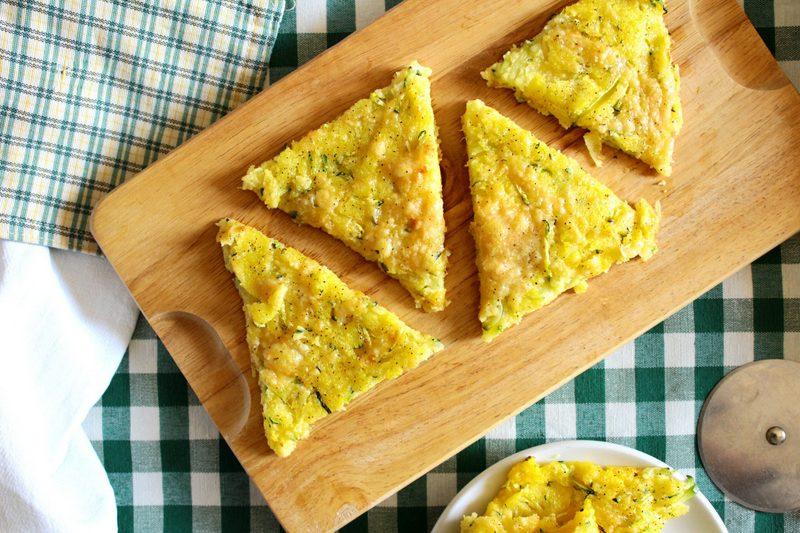 Polenta fritta con zucchine e formaggio 1