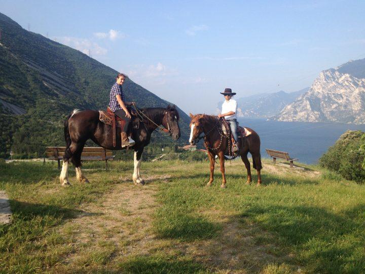 Paardrijden bij het Gardameer 1