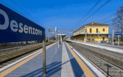 Met de trein bij het Gardameer