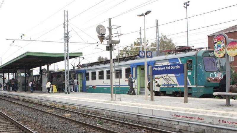 Met de trein bij het Gardameer 1