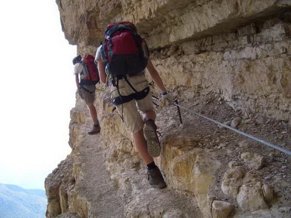 Klimmen en klettersteig bij het Gardameer 2