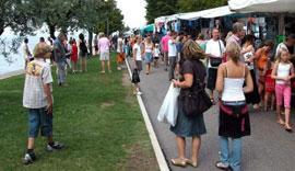 Markten bij het Gardameer op donderdag