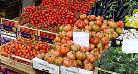 Markten bij het Gardameer op zondag