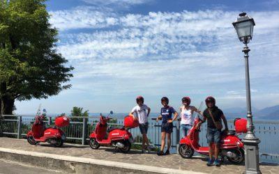 Met een Vespa rond het Gardameer