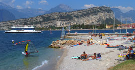 Stranden van het Gardameer