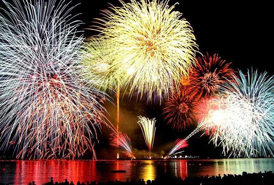 Vuurwerkshows bij het Gardameer